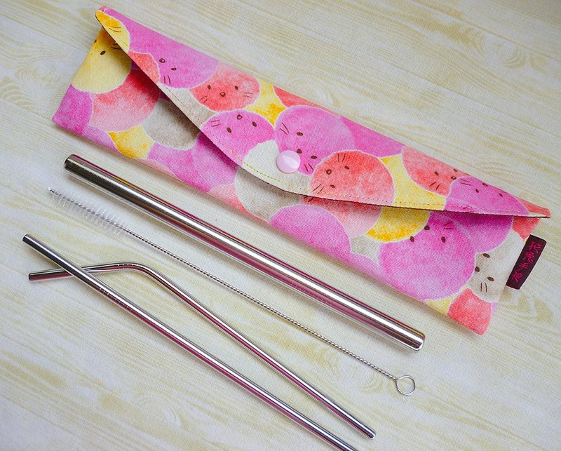 Longer increase version of the red hair ball small animal tableware package chopsticks bags green straw bag