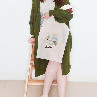 Tea meow - Shoulder canvas bag