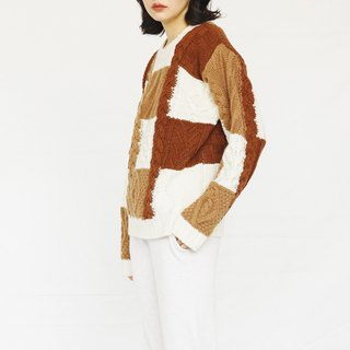 KOOW / Sweater bell Caramel Colored Fleece Sweater Japanese Retro Knitting Pullover