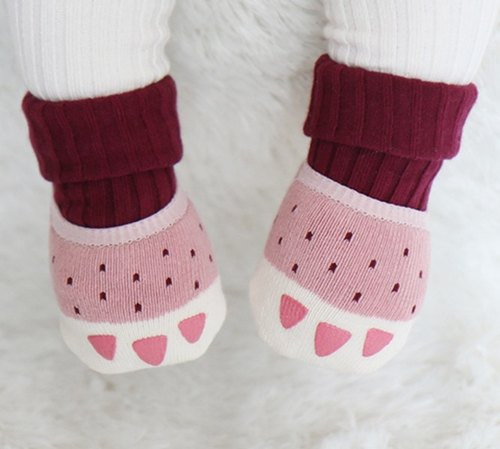Happy Prince Cute Pawls Baby Socks Two-piece Korean system