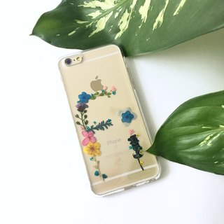 Custom made pressed flower phonecase