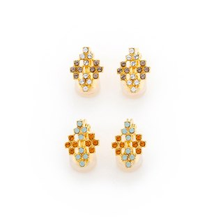 [JewCas] Air Earring Series Swarovski Crystal diamond ear clip _JC2260 air