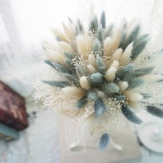 Preserved flowers / flowers immortalized rabbit tail holding bouquet bouquet*exchange gifts*Valentine's Day*wedding*birthday gift