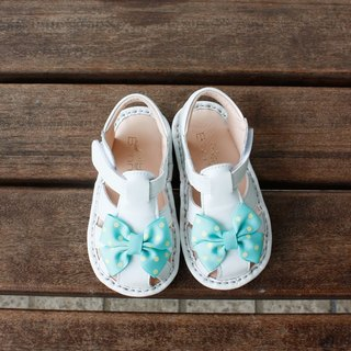 Butterfly flying baby sandals - lake green