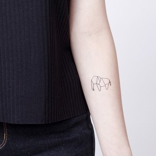Surprise Tattoos / Origami Elephant Tattoo Sticker