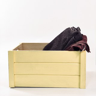 Yellow storage box