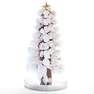 Paper Tree Blossoms - Great Christmas Tree Silver Snow White