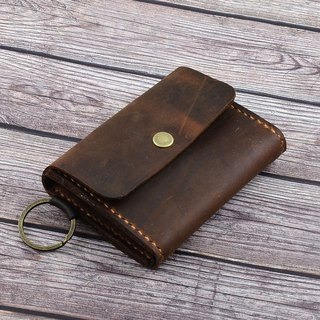 【U6.JP6 handmade leather goods】 - pure hand-made leather imported hand-made natural leather sewing. Large capacity simple wallet / wallet (men and women apply)