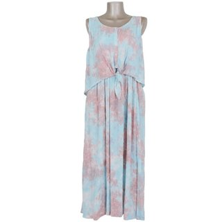 Uneven dyed summer dress setup <Pink Blue>