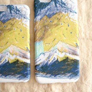 Peak yellow and blue texture mobile phone soft shell iphone full range of various models custom