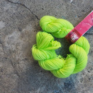Mini hand dyed line. Apple Green