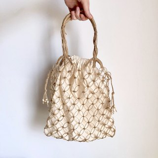 Rope Stitch _ Hemp rope hole bag _ Large