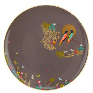 Sara Miller London for Portmeirion Chelsea Collection Cake Plate - Dark Grey