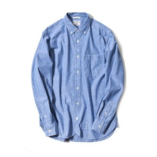 Japanese Charmbary Long Sleeve Worker Shirt In Blue