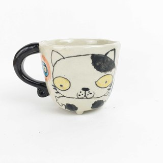 Nice Little Clay small four-legged cup cute cat 0108-02