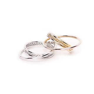 Mira Interlaced Gold/Silver Ring