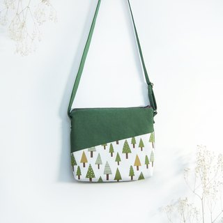 Handmade Forest Shoulder Bag - White