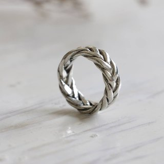 Mother's day gift Viking braided knot rings Engagement silver celtic eternity
