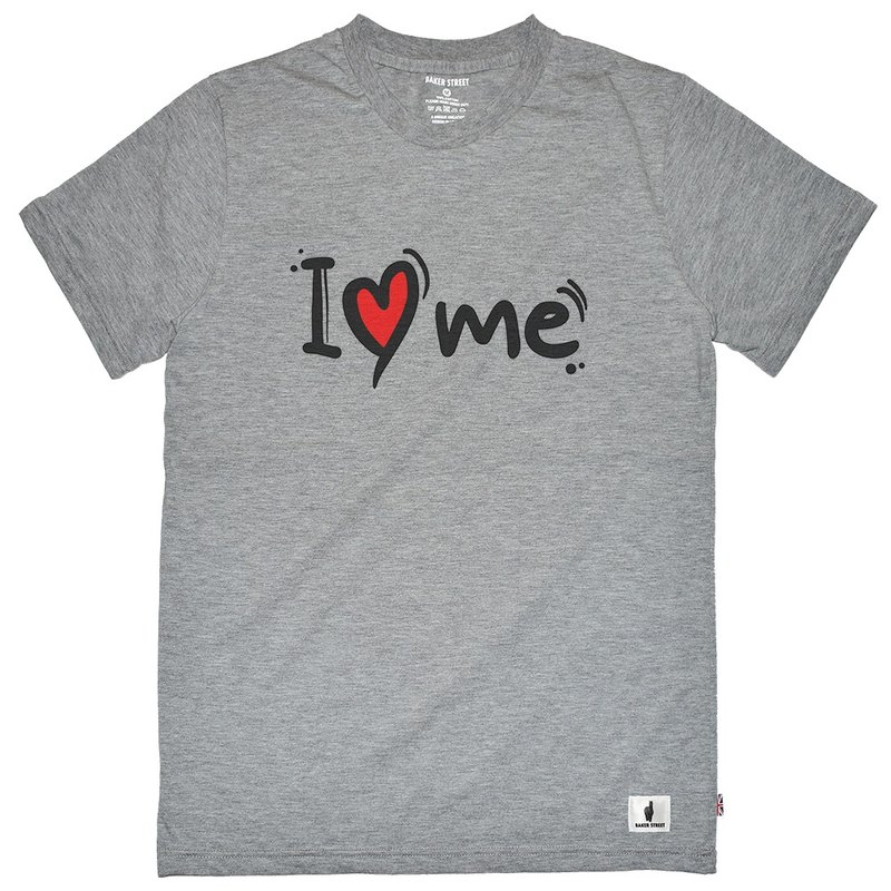 British Fashion Brand -Baker Street- I Love Me T-shirt