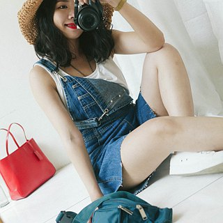 River water mountain - Shimane indigo youth juvenile tian dan tian pants pound lips neutral Japan overalls oversize vintage