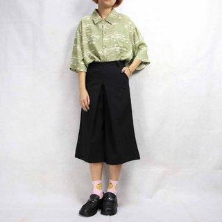 Tsubasa.Y Ancient House 011 Ancient Pants Skirt, Pants Skirt Black Elegant Vintage Seven Points