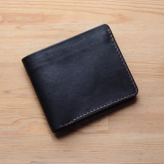 [DOZI leather hand made] short clip 1 identification card + card insertion function