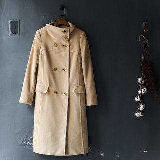 River Water Mountain - michael kors beige beige collar rate winter Angora rabbit fur vintage coat wool fur vintage wool vintage overcoat