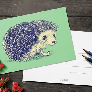 Postcard - Hedgehog (Flat version)