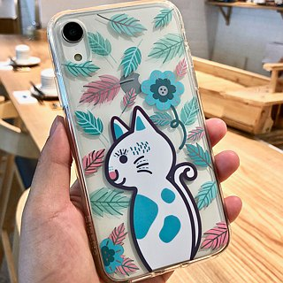 Korean illustrator Mi-Ae-Hong designed full soft plastic border transparent mobile phone case (iPhoneXR)