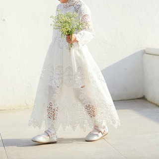 The Wizard of Oz white lace fairy fairy flower girl dress girls princess dress with lap dress
