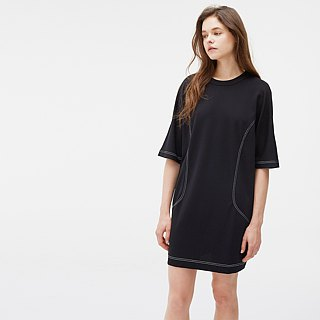 Five-Sleeve Knit Dress - Black