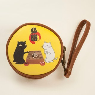 Three cat shop - cat chess double circle round wallet