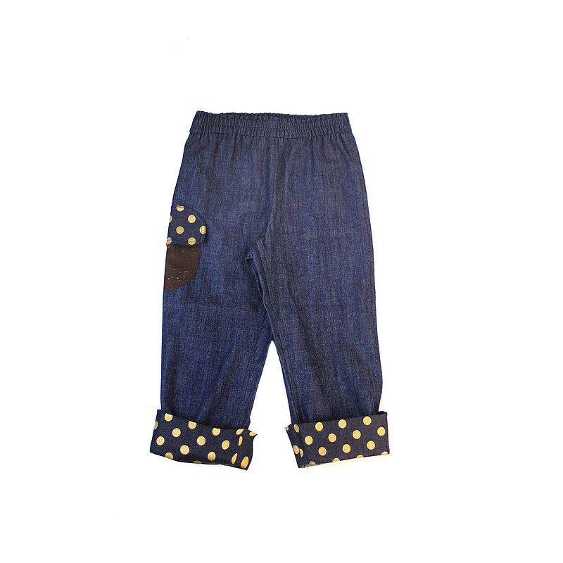 VA.布手作/童裝/橡實口袋點點長褲