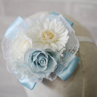 [Aqua] wedding hair accessories - immortalized flower / dried flower / bouquet jewelry / wedding bouquets bouquet / Flowers & Gifts