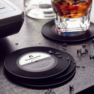 Vinyl Record silicone Coaster/Lid  (1pc)