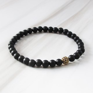 Scrub the agate golden ball bracelet