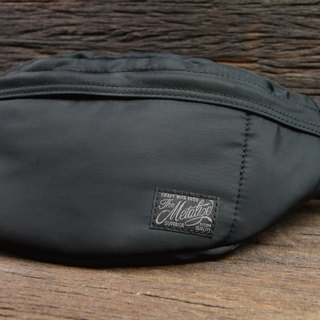 "[METALIZE] ""Simple Day"" Nylon Waist Bag (Black)"