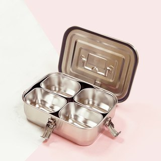 【Box】 304 stainless steel tableware series - Matte square box (shell)