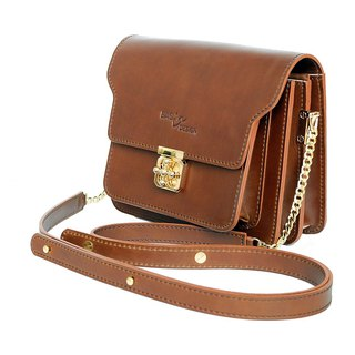 HELM BAG COMPASS Genuine Leather Brown