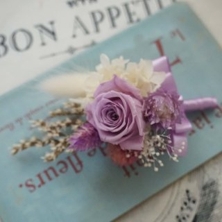 Preserved flowers immortalized flowers dried flowers. Groom / with / lang happy wedding officiate, corsage