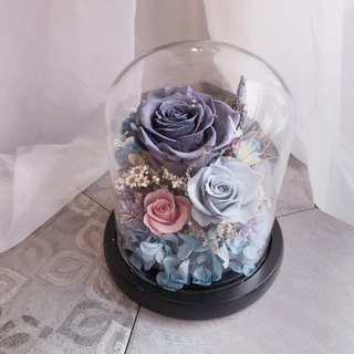FloraFlower - Grey Series Everlasting Flower Night Light / Dry Flower / Opening Ceremony / Christmas Gift