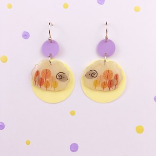 Pastoral autumn wind, sheep Earrings pair