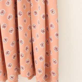 Japanese retro sweet lover printing peach powder loose vintage dress Japanese Vintage Dress