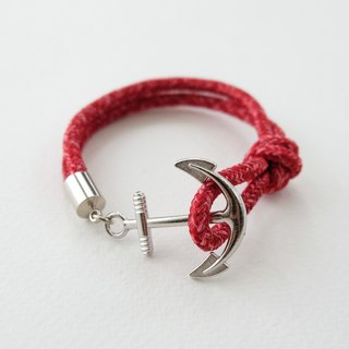Anchor bracelet / red paracord