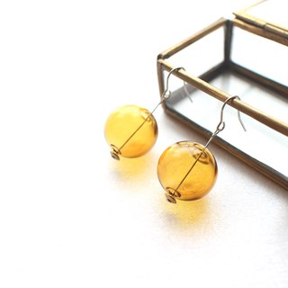 Orang bubbles-Handmade earrings