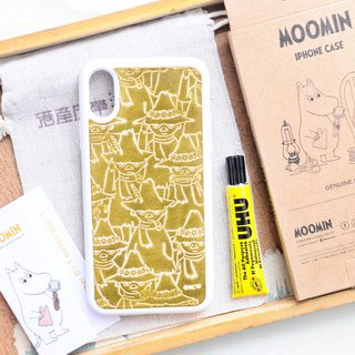 MOOMINx Hong Kong leather Shi Liqi hand dyeing mobile phone shell material package iPhone officially authorized