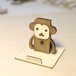 God monkey x handmade wooden phone holder mobile phone holder wedding small things exchange gift MUTOKOGI