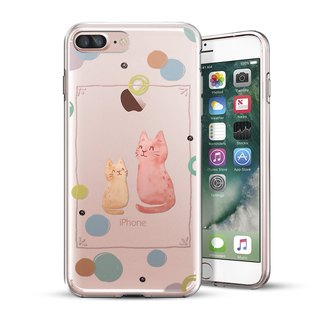 AppleWork iPhone 6 / 6S / 7/8 original design protective shell - a pair of cats CHIP-061
