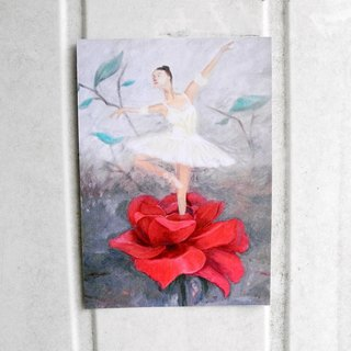 Blooming youth ballet dancers postcards