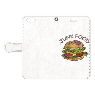 [手帳型iPhoneケース] Hamburger